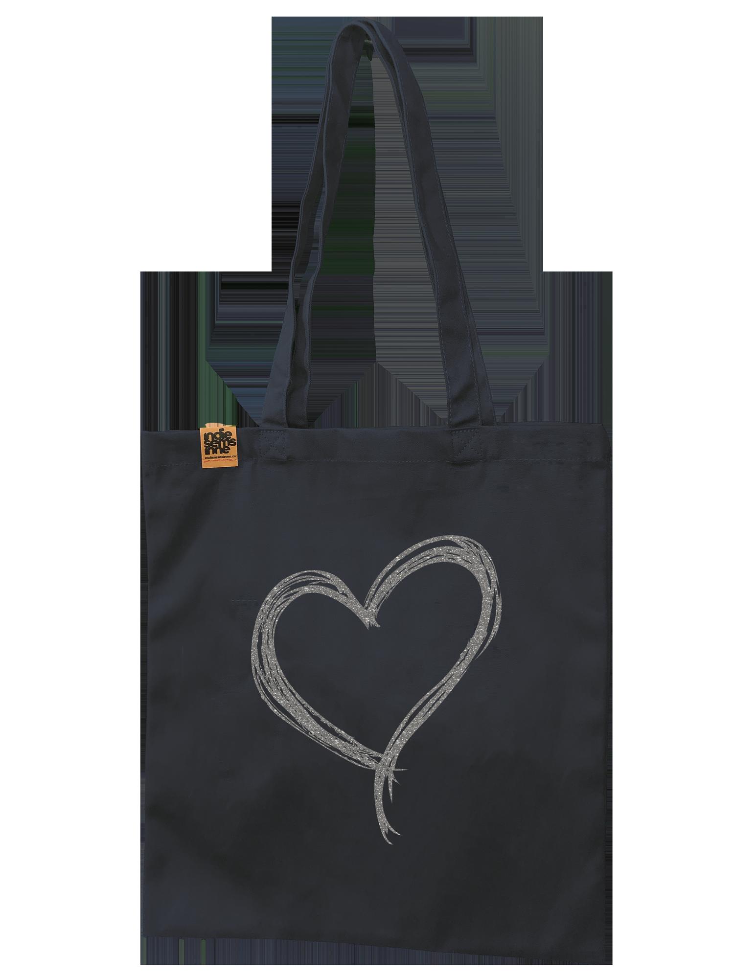Herz Tasche aus Bio-Baumwolle 340 g/m²