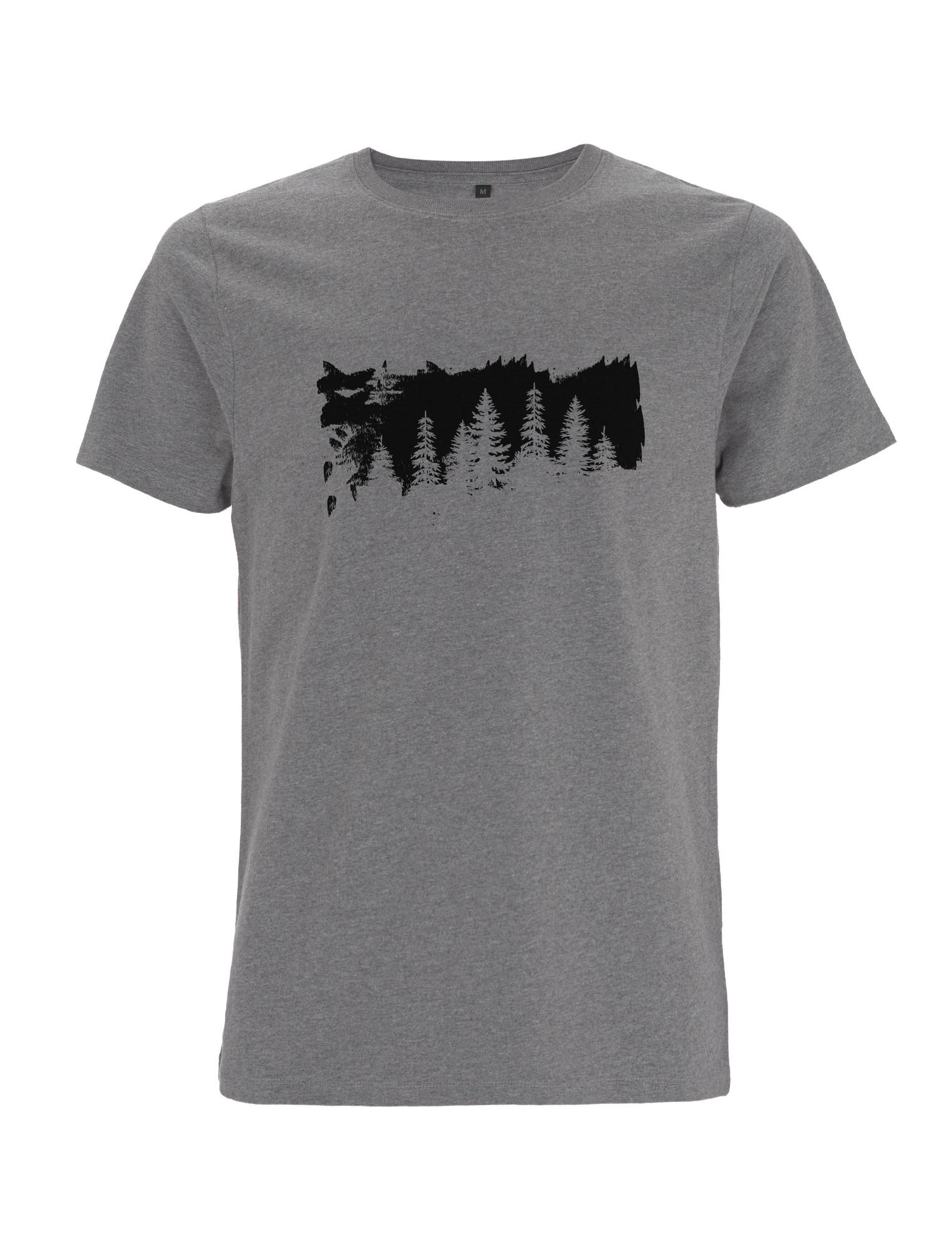 """Unisex FairWear T-Shirt aus Biobaumwolle mit  schwarzem Aufdruck """"Bäume"""""""