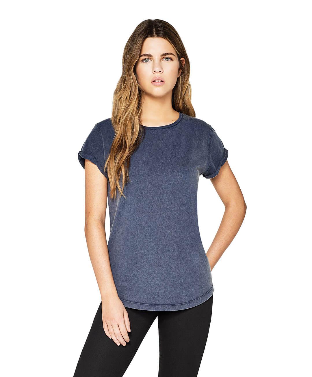 """""""Papageientaucher"""" Frauen Fairtrade T-Shirt aus Biobaumwolle mit zweifarbigem Druck"""